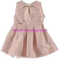 Civil kız çocuk pudra puantiyeli abiye elbise