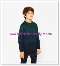 Zara mavi-yeşil degrade erkek çocuk kazak