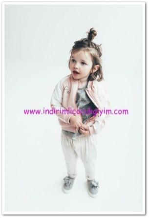 zara kız bebek pembe bonber ceket