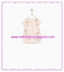 Zara kız bebek çiçekli pembe elbise-96 TL