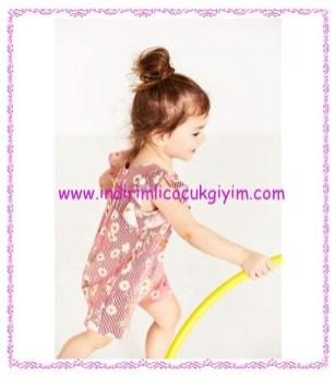 Zara kız bebek çizgili çiçekli tulum-90 TL