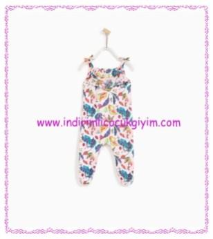 Zara kız bebek desenli geniş tulum-56 TL