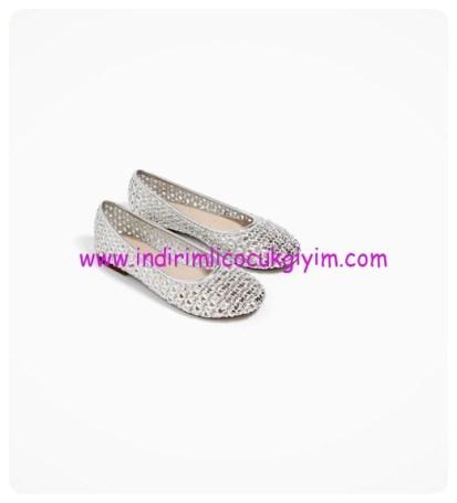 zara kız çocuk ajurlu babet ayakkabı
