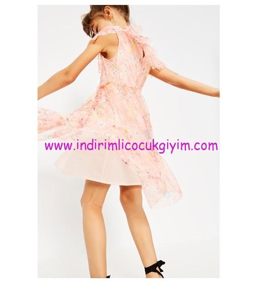 zara kız çocuk pembe tül elbise