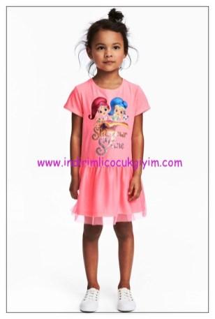 hm pembe tül etekli kız çocuk elbise