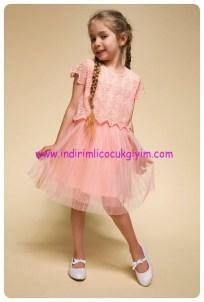 defacto kız çocuk pembe pileli elbise