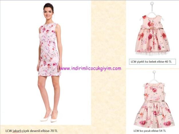 lcw anne-kız çocuk elbise kombinleri