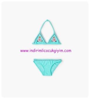 zara kız çocuk turkuaz işlemeli bikini-80 TL