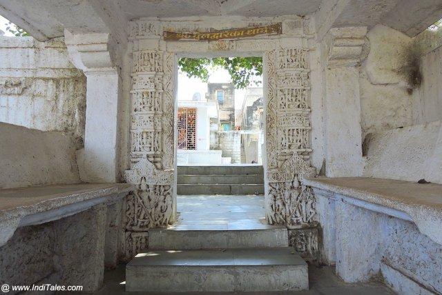 The original Dwarka temple complex entrance