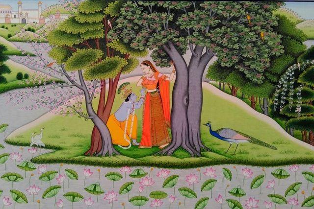 पहाड़ी शैली में राधा कृष्ण