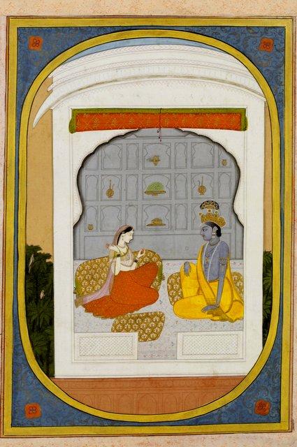 राधा-कृष्ण कुञ्ज में, कांगड़ा शैली