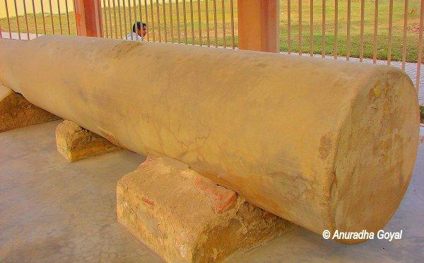 कुम्राहर स्थित अशोक स्तम्भ का एक भाग