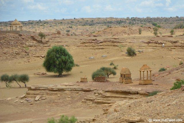 कुलधरा गाँव के अवशेष