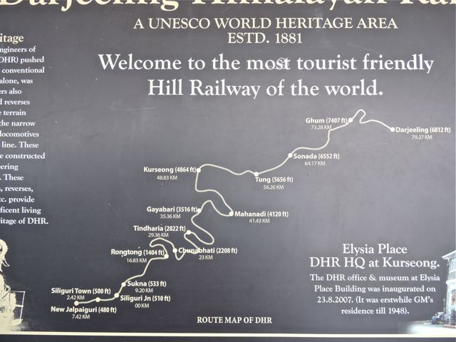 दार्जिलिंग हिमालय रेल का नक्शा