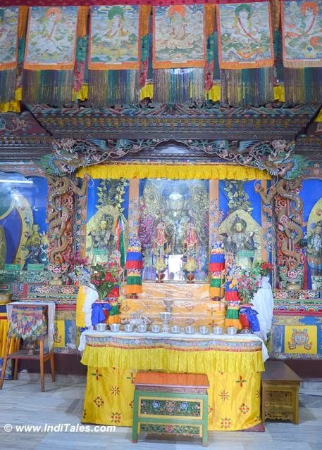 Inside the Pemiang's Pemayangtse Buddhist monastery