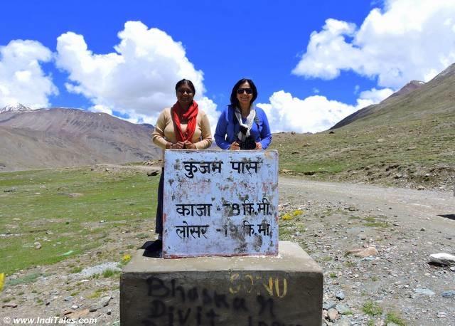 अलका के साथ कुंजुम दर्रे पर