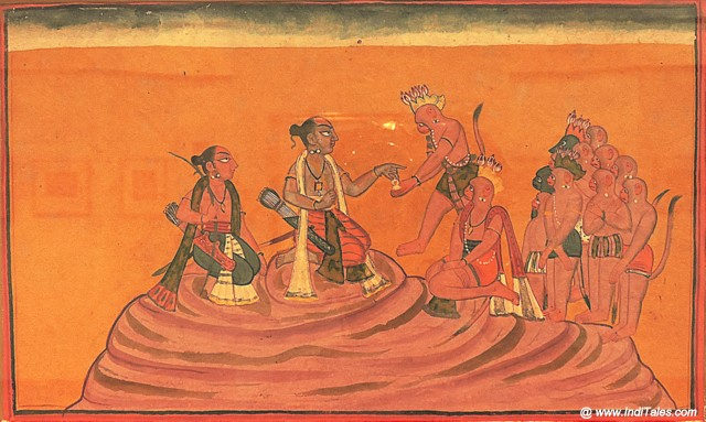 रामायण का दृश्य - लघु चित्र दीर्घा - राष्ट्रीय संग्रहालय - नई दिल्ली