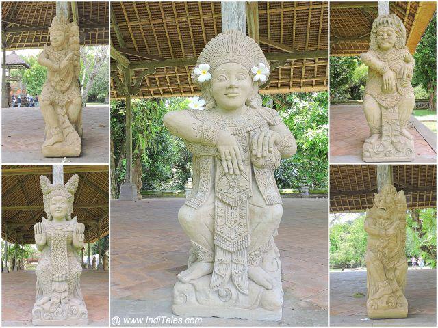 पुरा तमन अयुन में देवी देवताओं की प्रतिमाएं