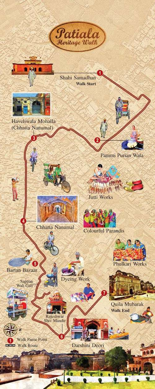 पटियाला धरोहर यात्रा - मानचित्र