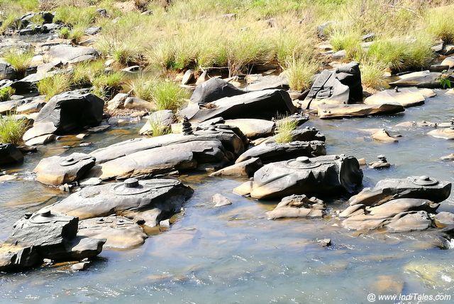 शाल्मला नदी में सहस्रलिंग - कंकर कंकर शंकर है