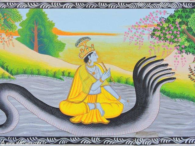 पहाड़ी गुलेर शैली में श्री कृष्ण
