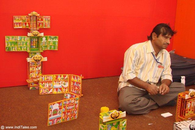 कावड़ कलाकार दिल्ली में