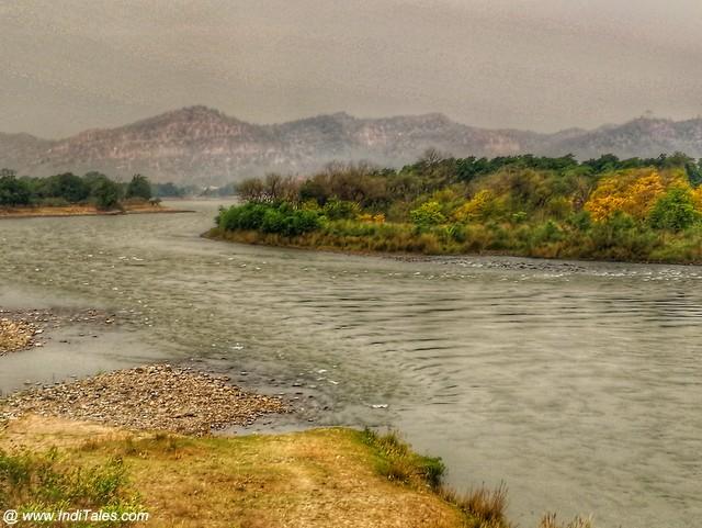 राजाजी राष्ट्रीय उद्यान के पास गंगा जी