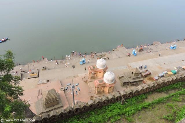 Narmada Ghats from Ahilya Fort, India