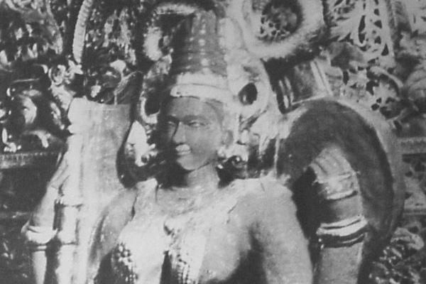 देवी महालक्ष्मी का पुरातन चित्र