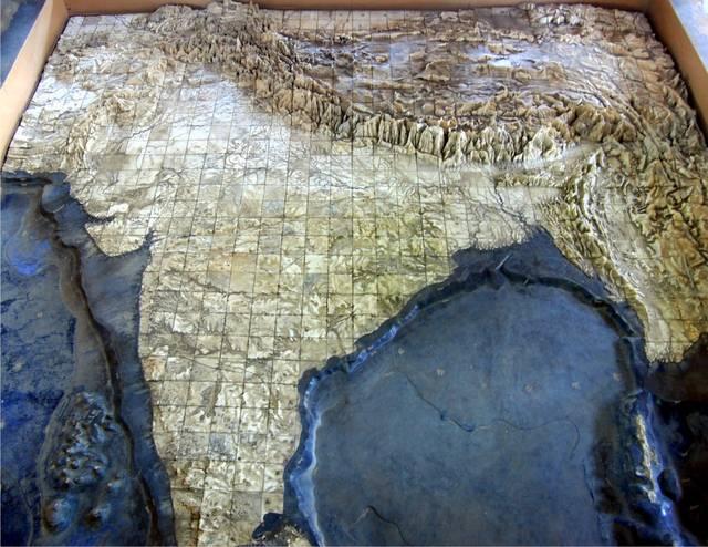 संगमरमर में बना भारत का मानचित्र