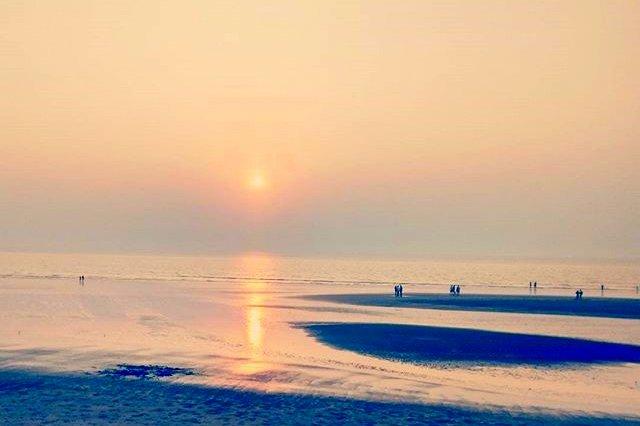 रजोड़ी समुद्रतट का सूर्यास्त