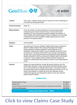 GeoBlue Claims Case Study