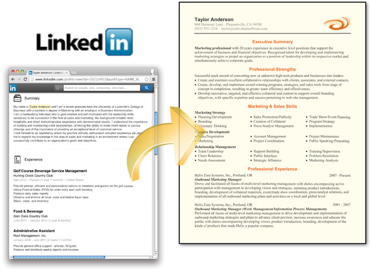 cv maker professional import linkedin profile information resumemaker