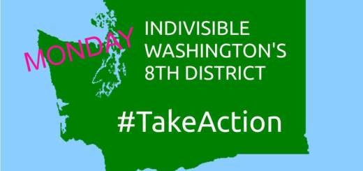Indivisible Washington's 8th District Monday Take Action