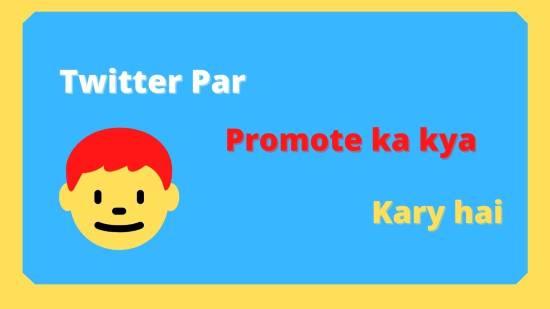 ट्विटर पर promote का क्या कार्य है