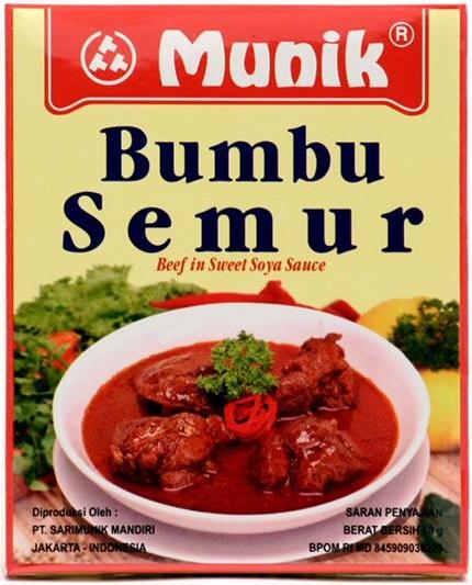 Bumbu Semur Beef In Sweet Soya Sauce 80 Gr By Munik