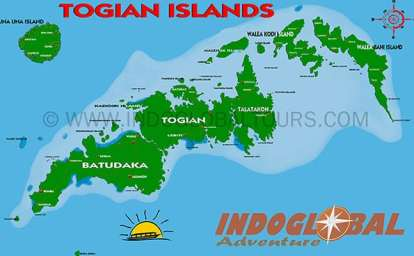 Togian Diving Map