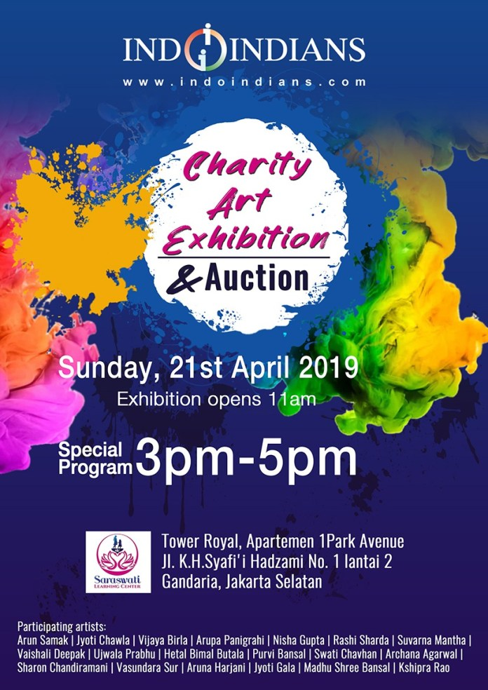 Indoindians Charity Art Event on Sunday, 21st April