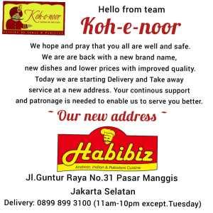 Habibiz serves Arabian, Indian & Pakistani Cuisine