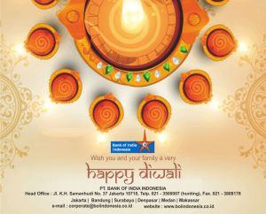 Bank of India Indonesia wishes you a very Happy Diwali