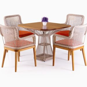 Fattana Dining Set - Outdoor Rattan Garden Patio Furniture