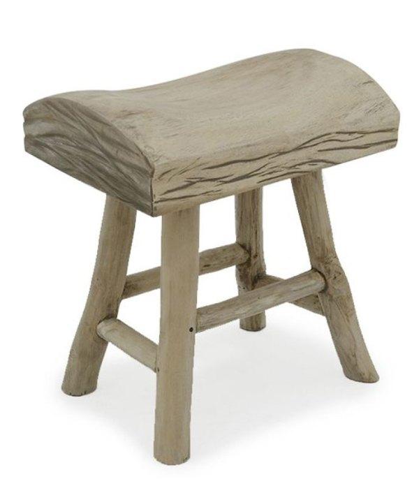 Bucharest wooden stool
