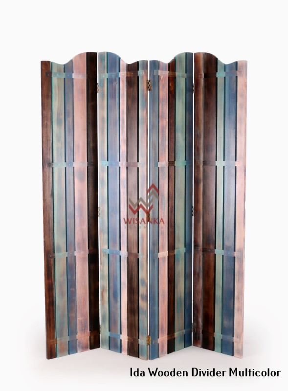 Recycle divider Ida Wooden Divider Multicolor