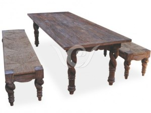 Nebula Dining Set Reclaimed Pine