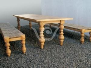 Industrial Reclaimed furnitureOmega  Dining Set Reclaimed Pine