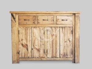 Papua Cabinet 3 Drawer 2 Door Reclaimed Teak