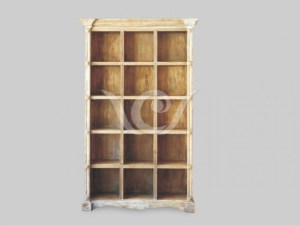 Roma Book Rack reclaimed pine