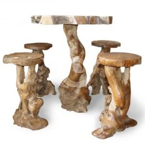 Root Bar Table n Stool Teak Root
