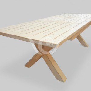 X-Leg Dining Table Reclaimed Pine
