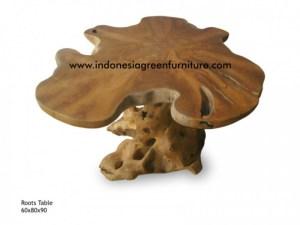 teak roots table